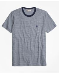 Brooks Brothers | Blue Micro-stripe Jersey Tee Shirt for Men | Lyst