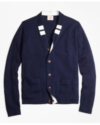 Brooks Brothers | Blue Varsity Stripe Cardigan for Men | Lyst