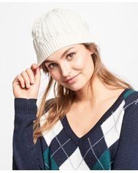 Brooks Brothers - White Aran Knit Hat - Lyst