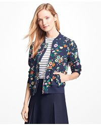 Brooks Brothers | Blue Floral Bomber Jacket | Lyst