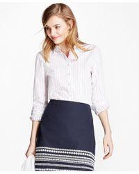 Brooks Brothers | Blue Dot-striped Cotton Seersucker Shirt | Lyst