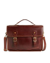 Brooks Brothers | Brown Jw Hulme Brief Bag for Men | Lyst