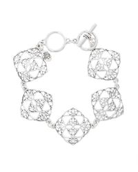Brooks Brothers - Metallic Silver Filigree Drop Bracelet - Lyst