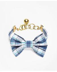 Brooks Brothers | Blue Kiel James Patrick Seersucker Plaid Bow Tie Bracelet | Lyst