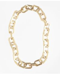 Brooks Brothers   Metallic Iconic Link Necklace   Lyst