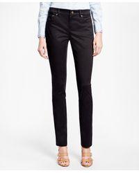 Brooks Brothers | Black Slim-fit Cotton Pants | Lyst
