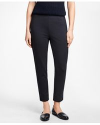Brooks Brothers | Blue Slim-fit Cropped Pants | Lyst