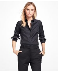 Brooks Brothers   Black Non-iron Tailored-fit Dress Shirt   Lyst