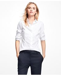 Brooks Brothers | White Non-iron Tailored-fit Dress Shirt | Lyst
