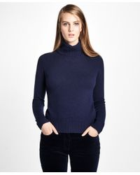 Brooks Brothers | Blue Saxxon Wool Turtleneck Sweater | Lyst