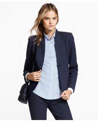 Brooks Brothers - Blue Petite Stretch Cotton Jacquard Jacket - Lyst