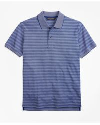 Brooks Brothers - Blue Slim Fit Textured Stripe Polo Shirt for Men - Lyst
