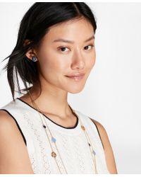 Brooks Brothers - Metallic Enamel Floral Stud Earrings - Lyst