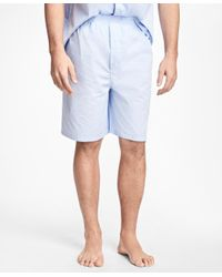 Brooks Brothers - Blue Glen Plaid Short Pajamas for Men - Lyst