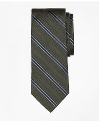 Brooks Brothers - Green Herringbone Framed Stripe Tie for Men - Lyst