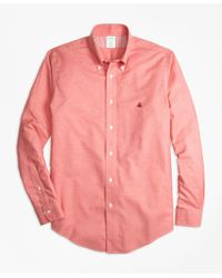 Brooks Brothers - Non-iron Milano Fit Heathered Oxford Sport Shirt for Men - Lyst