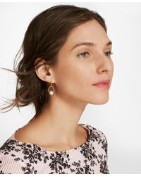 Brooks Brothers - Metallic Freshwater Pearl Gold-plated Drop Earrings - Lyst