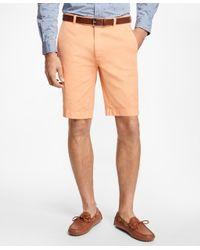 Brooks Brothers - Orange Garment-dyed Bermuda Shorts for Men - Lyst