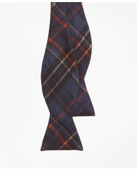 Brooks Brothers - Blue Ancient Madder Plaid Print Bow Tie for Men - Lyst