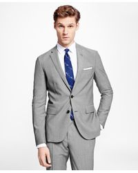 Brooks Brothers - Gray Sharkskin Suit Jacket for Men - Lyst