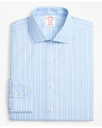 Brooks Brothers - Blue Madison Classic-fit Dress Shirt, Non-iron Alternating Ground Stripe for Men - Lyst