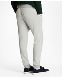Brooks Brothers | Gray Herringbone Jacquard Sweatpants for Men | Lyst