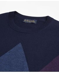 Brooks Brothers | Blue Merino Wool Argyle Crewneck Sweater for Men | Lyst
