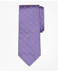 Brooks Brothers | Purple Spaced Foulard Tie for Men | Lyst