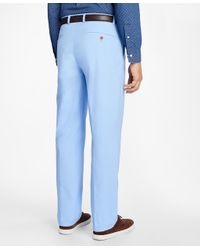 Brooks Brothers - Blue Clark Fit Supima® Cotton Poplin Pants for Men - Lyst