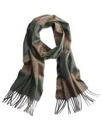Brooks Brothers | Green Cashmere Color-block Scarf for Men | Lyst
