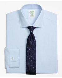 Brooks Brothers - Blue Milano Slim-fit Dress Shirt, Non-iron Spread Collar for Men - Lyst