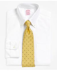 Brooks Brothers - White Traditional Relaxed-fit Dress Shirt, Button-down Collar for Men - Lyst