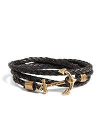 Brooks Brothers - Brown Kiel James Patrick Leather Wrap Bracelet for Men - Lyst