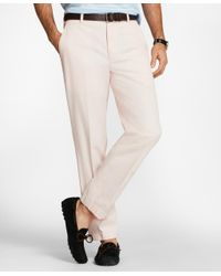 Brooks Brothers - Pink Clark Fit Supima Cotton Stretch Chinos for Men - Lyst