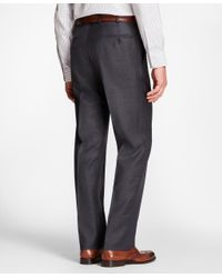 Brooks Brothers - Gray Madison Fit Mini-tattersall 1818 Suit for Men - Lyst