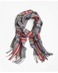 Brooks Brothers | Gray Tartan Lambswool Scarf for Men | Lyst