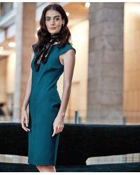 Brooks Brothers - Blue Ponte Knit Sheath Dress - Lyst
