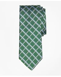 Brooks Brothers - Green Textured Windowpane Tie for Men - Lyst