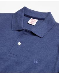 Brooks Brothers - Blue Original Fit Supima® Long-sleeve Performance Polo Shirt for Men - Lyst