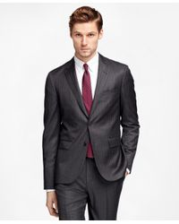 Brooks Brothers | Gray Alternating Stripe Suit Jacket for Men | Lyst