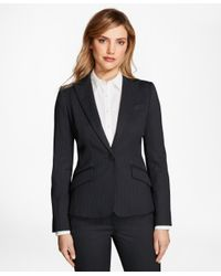 Brooks Brothers | Blue Pinstripe Stretch-wool Jacket | Lyst