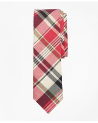 Brooks Brothers - Pink Plaid Madras Tie for Men - Lyst