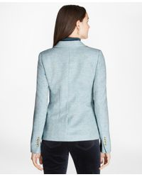Brooks Brothers | Blue Herringbone Wool Jacket | Lyst