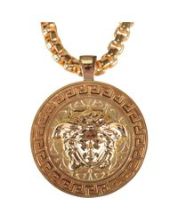 Versace - Metallic Gold Medusa Necklace for Men - Lyst