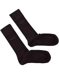 BOSS - Dark Brown Two Pack Socks for Men - Lyst