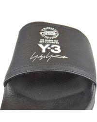 Y-3 - Black Logo Sliders for Men - Lyst