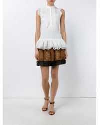 Erdem - White Lisa Lace Prairie Top - Lyst