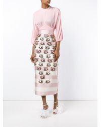 Emilia Wickstead - Pink Dolly Embellished Skirt - Lyst
