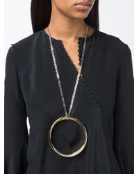 Givenchy | Pink Multi Ring Necklace | Lyst