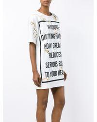 Moschino - Pink Fashion Kills T-shirt Dress - Lyst